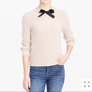 J.Crew Factory Bow Tie Knit Sweater, sz. M